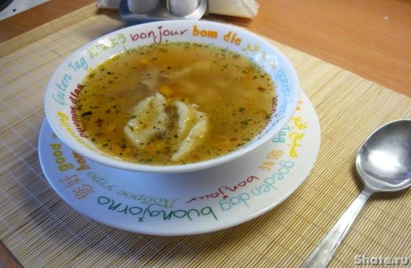 Рецепт супа из курицы с клёцками пошаговый с фото