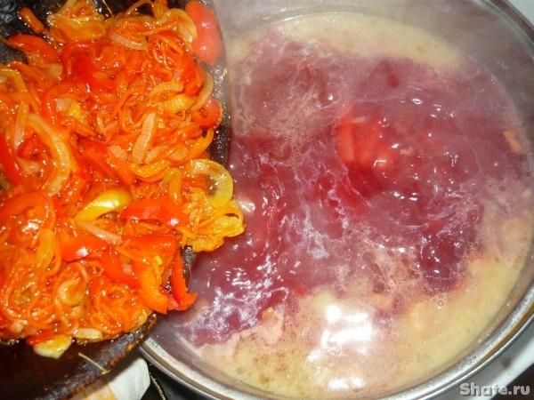 борщ с соленой капустой рецепт