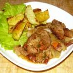Свинина с капустой и фасолью