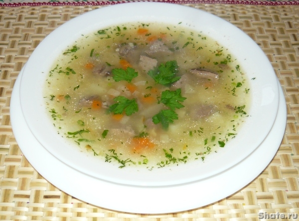 Куриный суп с потрошками