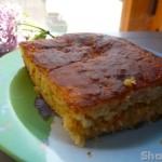 Дрожжевой наливной пирог с капустой