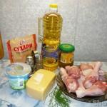 Куриная голень в сырной панировке