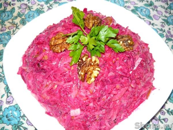 салат из свёклы с солёным огурцом