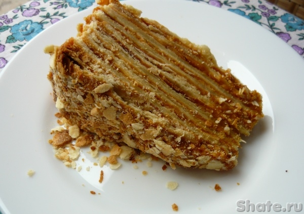 Торт наполеон вареной сгущенкой рецепт с фото