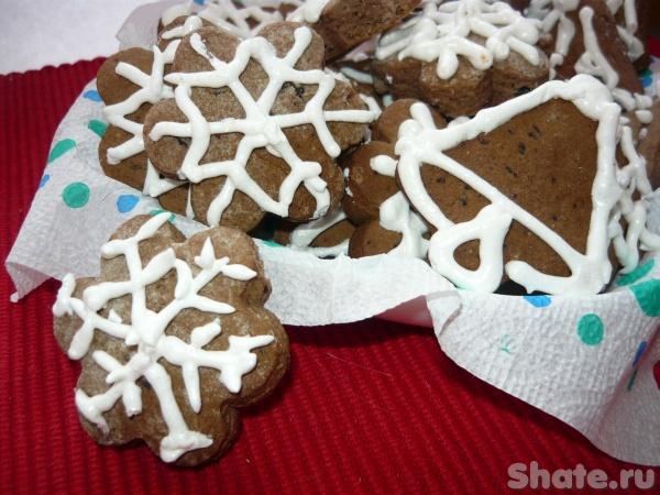 Новогоднее шоколадное печенье