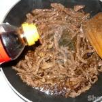 Салат с фунчозой и говядиной