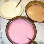 Трехслойный десерт с йогуртом