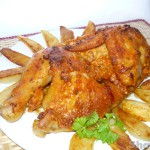 Курица запеченая в миндальной корочке