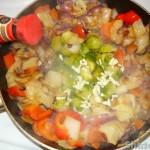 Куриные шашлычки с овощами