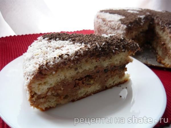 """Бисквитный торт с шоколадным кремом """"Мишка"""""""