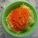 """Салат из свежей капусты """"Витаминный"""""""