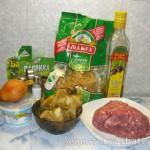 Сливочно-мясной соус с белыми грибами