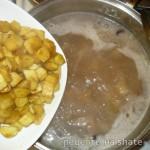 Борщ кубанский с фасолью и кабачком