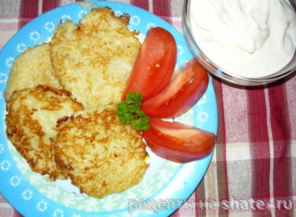Оладьи из кабачка с картофелем