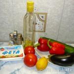 Тёплый салат с печеными овощами и сыром фетой