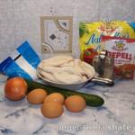 Салат с кальмарами и свежим огурцом