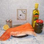 Филе лосося в укропе