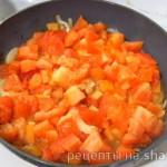 Курица с помидорами в сливках