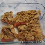 Лосось запеченный в сливках с грибами