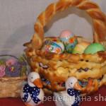 Пасхальная корзиночка для яиц