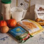 Быстрые пирожные из слоеного теста с творогом и нектаринами
