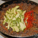 Пирог с мясом и овощами