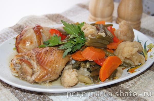 """Курица с овощами в """"рукаве"""""""