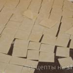 Лазанки запеченные с творогом и сыром