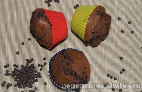 околадные кексы с шоколадом