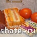 быстрый пирог с колбасой