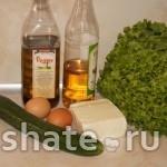 салат из огурцов с брынзой