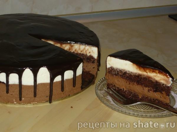 "Торт ""Сливки, кофе, шоколад"""